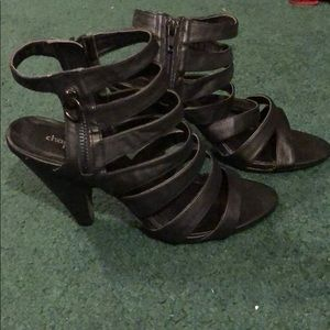 Black Strappy Heels from Charlotte Russe